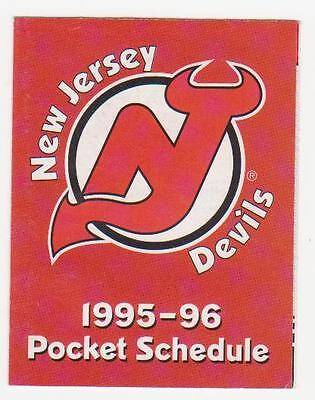 1995-96 New-Jersey Devils Pocket Schedule Mint (A210)