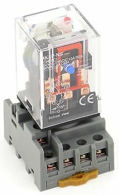 New Ce Cube Relay 11Pin 3P Pbc-Rep-3P10A-120Vac  Pbc-Socket-Rep-3P10A