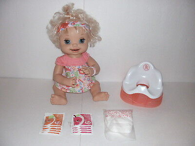 Baby Alive Learns to Potty Fully Animated & Interactive Doll Eats Drinks Poops