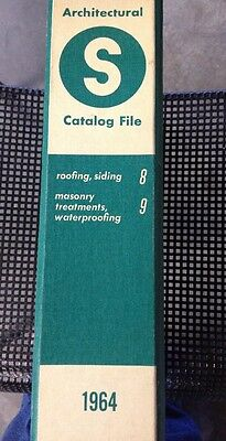 Sweets Architectural Catalog File 1964 Roofing Siding Masonry Waterproof Sec 8-9