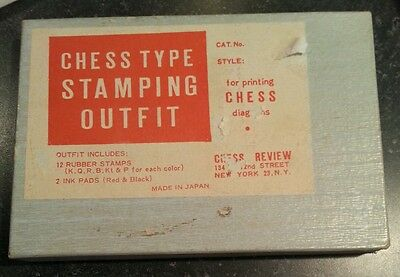 Chess Type Stamping Outfit, Vintage, Made In Japan, Chess Review