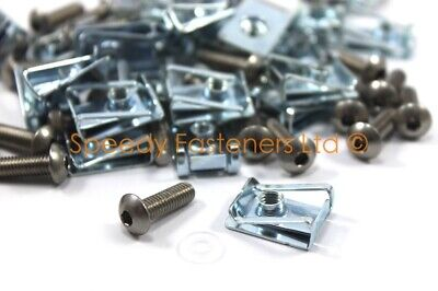 20//50 M5 M6 M8 Spire Clips Lug Nuts Chimney U Nuts Fixings Panel Speed Fasteners