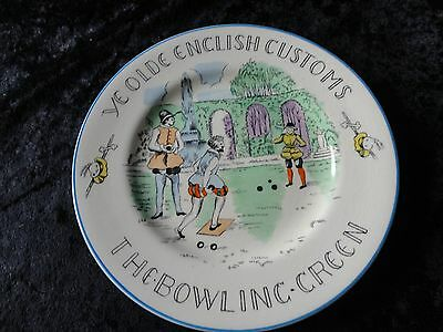 """Ye Old English Customs """"THE BOWLING GREEN"""" Plate 6 inches."""