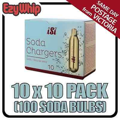 Isi Soda Chargers 10 Pack X 10 (100 Bulbs) Co2 Carbon Dioxide Syphon