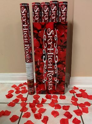 """12 Wedding Popper Cannon Rose Confetti New Years Surprise Party Valentines 24"""""""