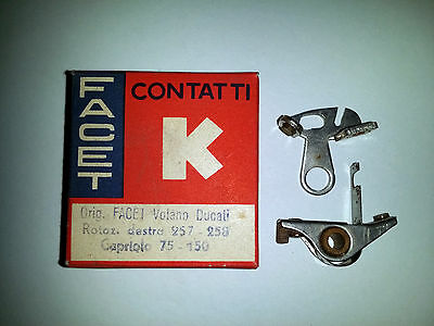 Contatti Punte Platinate Contact Breaker Point Set Facet Volano Ducati Capriolo