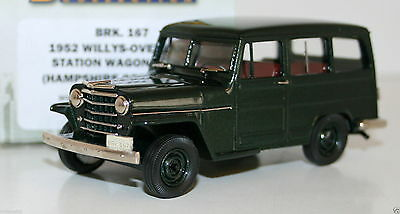 BROOKLIN 1/43 BRK167 1952 WILLYS OVERLAND STATION WAGON 4WD HAMPSHIRE GREEN POLY