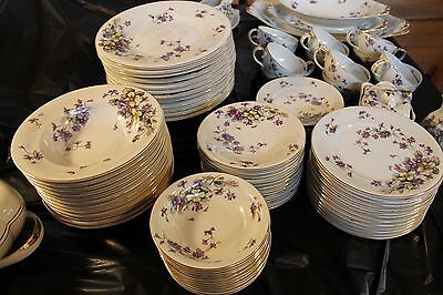 """Meito Norleans China """"Adele"""" Made in occupied Japan Set of 85 pieces"""