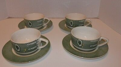 Lot of 4 Royal China Colonial Homestead Cups & Saucers
