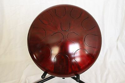 "Ajna Steel Handpan 16"" 12 Tone Tongue Drum with Case - Minor Scale USA Made"