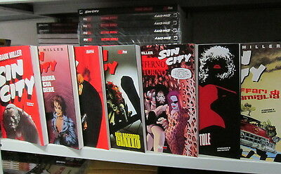 Sin City serie completa 1/7 + 300 + Big Guy di Frank Miller ed.Magic Press NUOVI