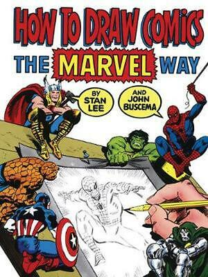 How to Draw Comics the Marvel Way by Stan Lee (English) Paperback Book Free Ship