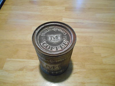 ANTIQUE 1925- 1950 Charles & Co TVF COFFEE TIN PAINT CAN TOP UNOPENED, LITHO?