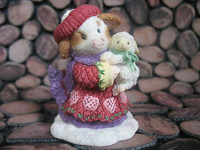 New  Enesco Mary's Moo Moos girl with lamb figurine- 4002507  Warm Wooly wishes