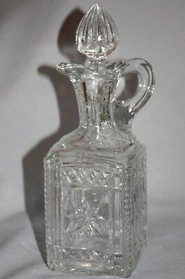 EARLY AMERICAN PATTERN GLASS - GRACE - DECANTER Flint Glass Co Albany, Indiana