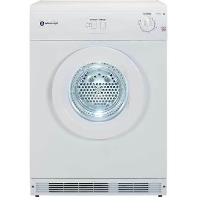 White Knight C44A7W Freestanding 7Kg Vented Tumble Dryer Reverse Action in White