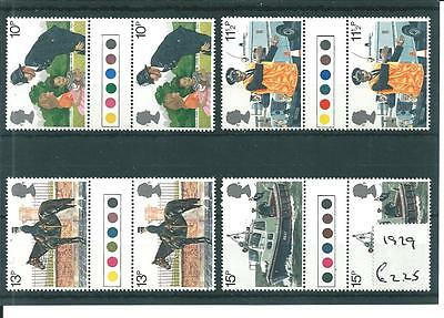 wbc. - GB - COMMEMS - 1979 -POLICE- GUTTER PAIRS -TRAFFIC LIGHTS - UNM MINT SETS