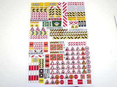 CUSTOM CITY TOWN STICKERS for MODELS, TOYS, DISPLAYS, Lego 7663 7632 7631, ETC