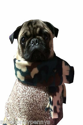 Pug Dog Scarves Scarf Winter Warmer Puppy Care Chihuahua Pet Clothing Neck Warm