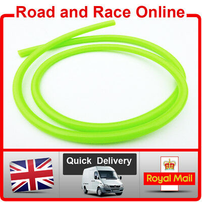 Motorcycle Fuel Line Petrol Pipe 5mm I/D x 8mm O/D 1m Length Green