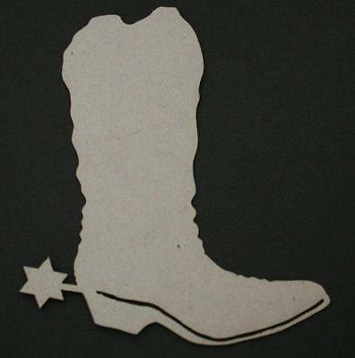Chipboard A2Z Scraplets Cowboy Boot