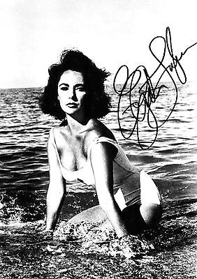 Elizabeth Taylor 02 Signed Photo Print 02A