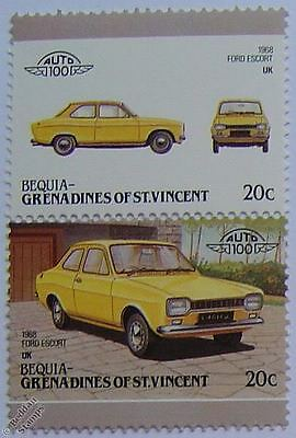 1968 FORD ESCORT Car Stamps (Leaders of the World / Auto 100)