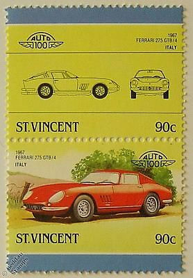 1967 FERRARI 275 GTB/4 Car Stamps (Leaders of the World / Auto 100)