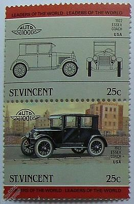 1922 ESSEX COACH Car Stamps (Leaders of the World / Auto 100)