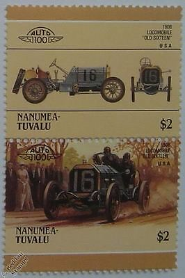 1908 LOCOMOBILE OLD SIXTEEN Car Stamps (Leaders of the World / Auto 100)