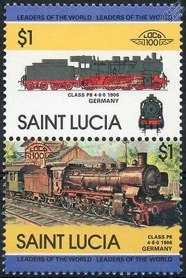 1906 Prussian Class P8 4-6-0 DRG Class 38.10-40 Germany Train Stamps / LOCO 100