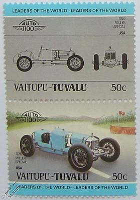 1926 MILLER SPECIAL Car Stamps (Leaders of the World / Auto 100)