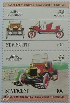 1908 FORD MODEL T Car Stamps (Leaders of the World / Auto 100)