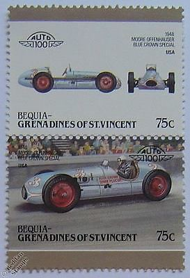 1948 BLUE CROWN SPARK PLUG SPECIAL Car Stamps (Leaders of the World / Auto 100)