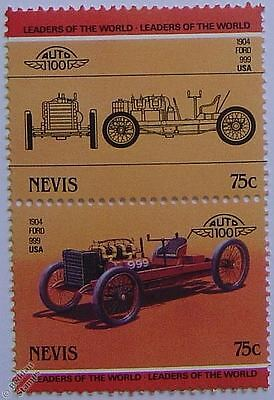 1904 FORD 999 Car Stamps (Leaders of the World / Auto 100)