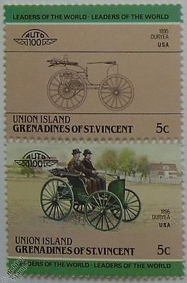 1895 DURYEA Car Stamps (Leaders of the World / Auto 100)