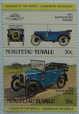 1923 AUSTIN SEVEN TOURER Car Stamps (Leaders of the World / Auto 100)