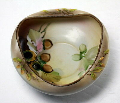 Antique Nippon porcelain Bowl decorated with Acorns