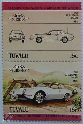1963 STUDEBAKER AVANTI Car Stamps (Leaders of the World / Auto 100)