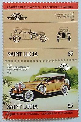 1931 CHRYSLER IMPERIAL CG Car Stamps (Leaders of the World / Auto 100)