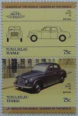 1955 ROVER P4 90 Car Stamps (Leaders of the World / Auto 100)