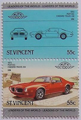 1973 PONTIAC FIREBIRD TRANS AM Car Stamps (Leaders of the World / Auto 100)