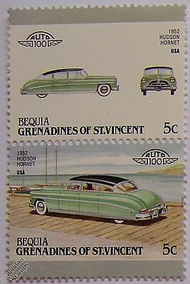 1952 HUDSON HORNET Car Stamps (Leaders of the World / Auto 100)