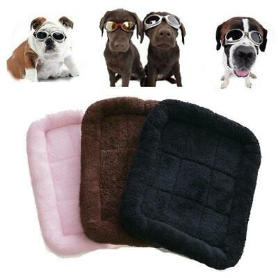 Pet Dog Puppy Cat Bed Warm Soft Mat for Crate Kennel Winter S M Size