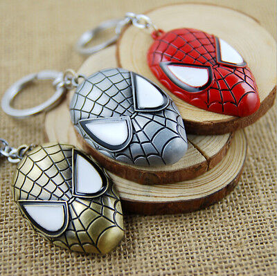 Delicacy Pretty Spider-Man Mask Zinc Alloy Key chain Ring Super Cool