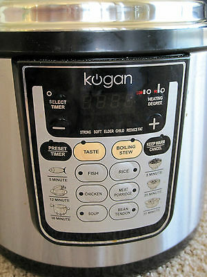 ### GREAT CONDITION - Kogan 6L Electric Pressure Cooker- Overseas Move - No Rese