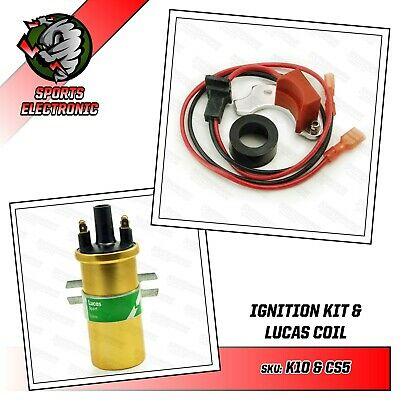 Powerspark 6cyl RH Points Electronic Ignition Kit & DLB105 Lucas Sports Coil
