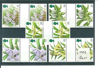 Commems - 1993  - World Orchid Conference  - Gutter Pairs - Unmounted Mint Sets