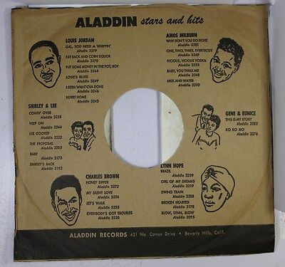Company Sleeve 78 Aladdin  - Brown W/ Black Text & Repeating Lamp Graphics (Reve