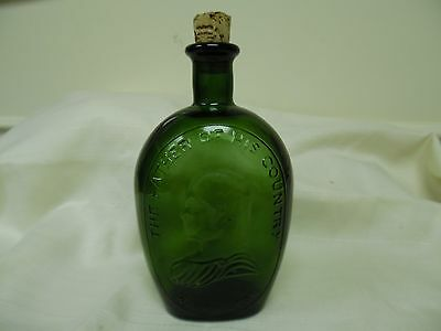 "Wheaton NJ ""The Father of our Country Washington Green Glass Bottle"